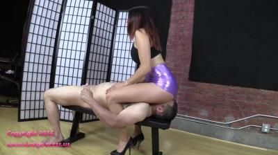 Brat Princess 2: Mia - Face Sitting And Bouncing In Metallic Short Shorts