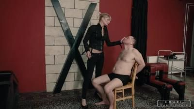 Cruel Punishments: Mistress Bonnie - Severe Femdom - Huge Slaps And Cigarette Ash