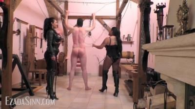 Mistress Ezada Sinn: Mistress Saint Lawrence - Cruel Double Whipping At The Owk