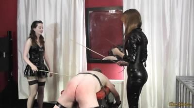 Divine Goddesses: Slave Caned By Goddesses Porcelain Beauty And Mary Ann