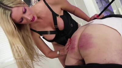 Mistress Nikki Whiplash: Strapped Down, 64-Stroke Cold Caning Wl1473