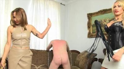 Sado Ladies Femdom Clips: Flogged By 2 Bitches. Lady Constance And Lady Dana
