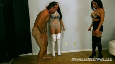 The Mean Girls: Goddess Tina, Princess Carmela - Goddess Tinas First Ballbusting