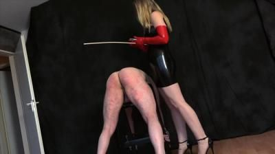 Femdom-Pov-Clips: Mistress Cloe - Caned By The Latexlady