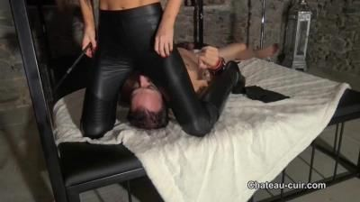 Chateau-Cuir: Tina Kay - Smothered Under Tinas Leather Leggings