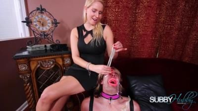 Subby Hubby: Vanessa Cage - Vanessas Sissy Part 4: Cum Dumpster