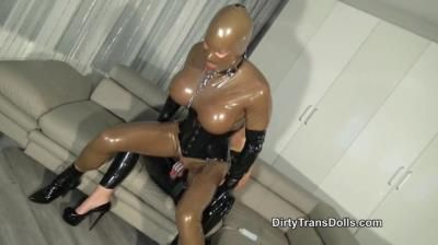Dirty Trans Dolls: Anal Drilling The Rubber Doll Part 2