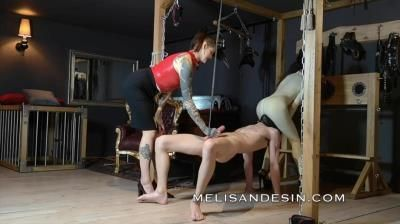 Miss Melisande Sin: By The Balls Plank (Melisande Sin And Maya Sin)