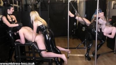 Mistress Tess Uk Clip Store: Mistress Tess, Mistress Bliss, Mistress Karina - Triple Dick Rotation