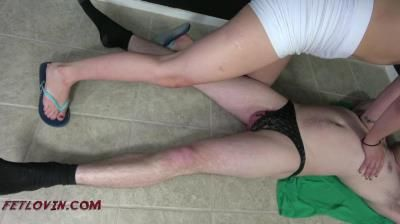 Domination Ballbustin And Foot Lovin: Abby Paradise - Knee Fury 3