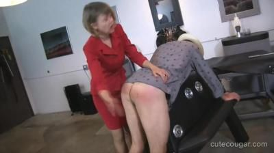 Clare Spanks Men: Clare Fonda - Clare Spanks Naughty Man In Dungeon