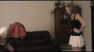 Ballbustin And Foot Lovin: Ballbusting A Retard