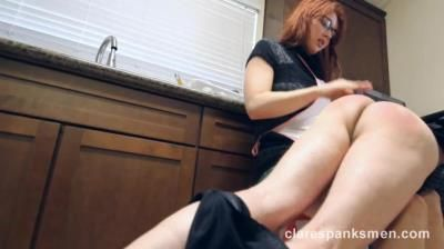 Clare Spanks Men: Wife Spanks Him For Trouble At Work