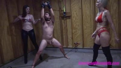 The Mean Girls: Goddess Platinum, Miss Dandy - Miss Dandy Learns Ballbusting