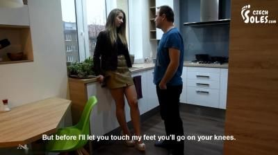Czech Soles: Mean Snobby Girl - Verbal And Shoe Humiliation Spitting On Loser - Part 1