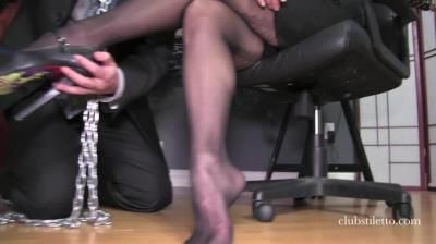 Club Stiletto Femdom: Miss Jasmine - Office Stocking Worship