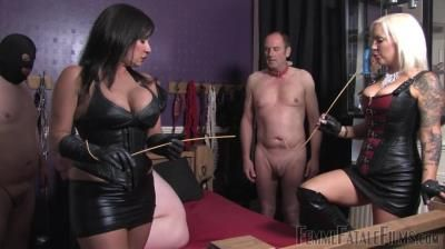 Femme Fatale Films: Featuring Miss Deelight, Mistress Real - Beating Soles - Part 2