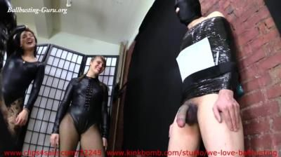We Love Ballbusting: Sasha Foxxx, Princess Natalya, Mariah - Manhood Target Practice Competition Kicks Off And The Damage Is Brutal