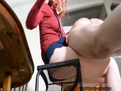 Clare Spanks Men: Audrey Tate - Manners Training Day 1