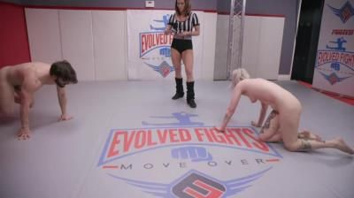 Evolved Fights: Arielle Aquinas - Muscle Man Destroys Tattooed Blonde Then Fucks Her
