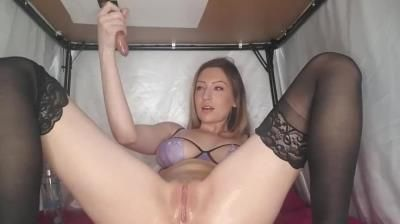 Clips4sale: Blonde Teen In Lingerie Is Milking Dick Under The Table