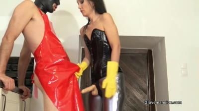 Glove Mansion: Fetish Liza - Rubber Glove Milking For A Fan Part 1