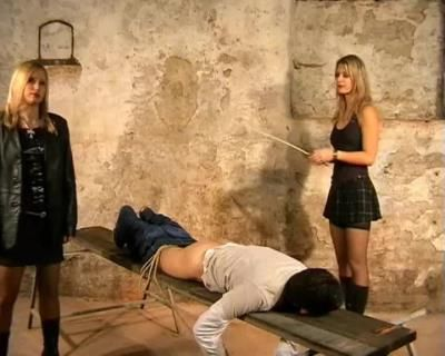 Cruel Amazons: Mistress Kate, Mistress Zita - Caning In The Basement