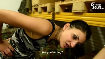Czech Soles: Slave Market - Brutal Beating And Humiliation By 3 Army Girls