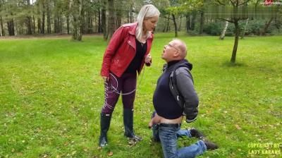 Lady Karame: Ballbusting With Sexy Hunter Boots