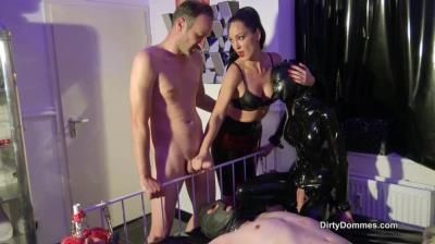 Dirty Dommes: Lady Blackdiamoond, Fetish Liza - His First Taste Of Cum