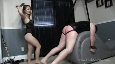 Club Stiletto Femdom: Miss Xi - Flogged Ass And Battered Balls