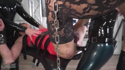 Mistress Susi: Strapon Fucked By The Rubber Mistress And Touched By The Rubber Slave