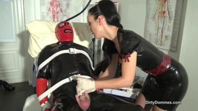 Dirty Dommes: Madame C, Fetish Liza - Teased And Denied Rubber Gimp
