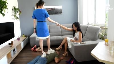 Czech Soles: Two Asian Cuties Enjoying Findom And Foot Humiliation Of A Robber