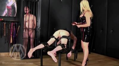 Clips4sale: Mistress Nikki Whiplash - No Mercy Caning For Two Naughty Slaves Part I
