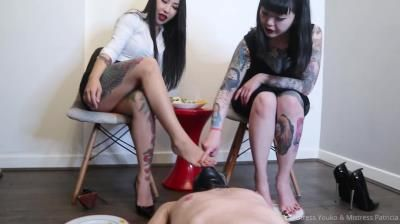 Clips4sale: Mistress Youko, Mistress Patricia, Two Asian Mistresses Feeding Our Slave