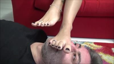 Clips4sale: Divine Goddess Gabriella - I Totally Own You - Endless Foot Domination, Foot Worship, Foot Gagging, Toe Sucking, Human Footstool